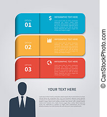 Modern business template. Vector illustration.