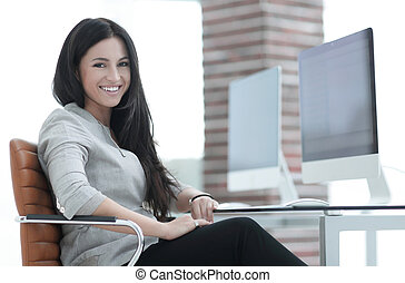 modern business woman in the office.