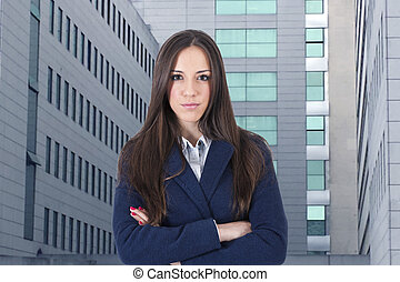 modern business woman portrait