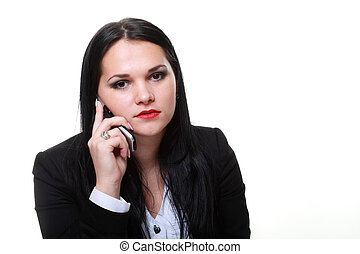 modern business woman talking phone