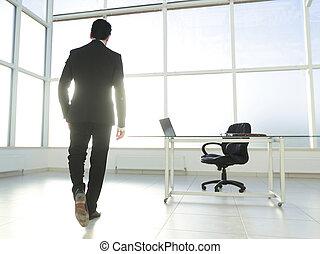 modern businessman in a spacious office