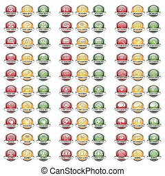 Modern Button Set Vector SEO SEM for the creative use in...