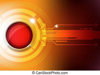 modern button technology concept