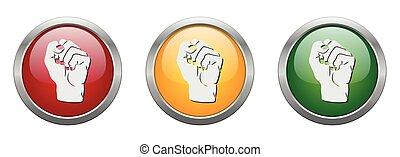 Modern Button Vector Fist