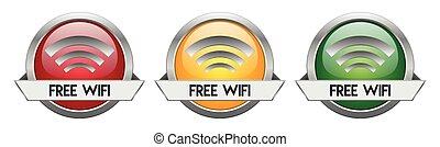 Modern Button Vector Free WiFi