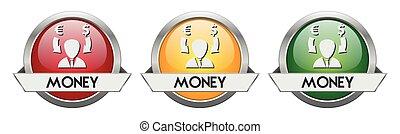 Modern Button Vector Money