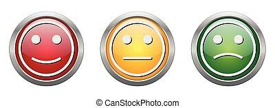 Modern Button Vector Smiley