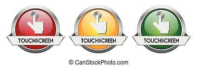 Modern Button Vector Touchscreen