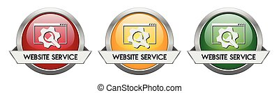 Modern Button Vector Website Service