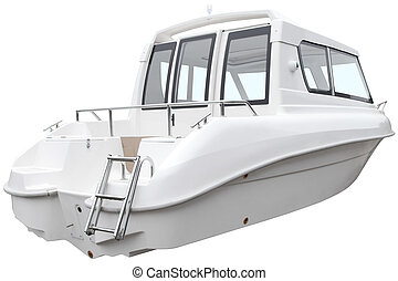Modern cabin boat.
