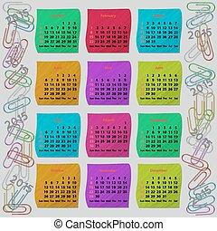 Modern calendar 2015