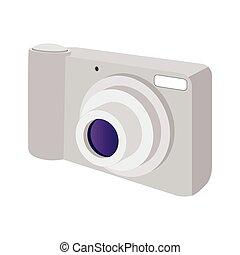 Modern camera cartoon icon