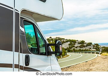 Camper Van RV Road Trip