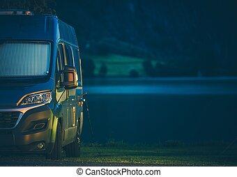 Modern Camping on the Lake