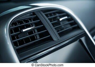 Car Air Vent Closeup
