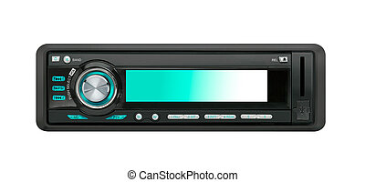 Modern car audio system isolated