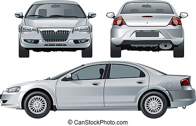 modern car. Available EPS-10 vector format separated by groups and layers for easy edit