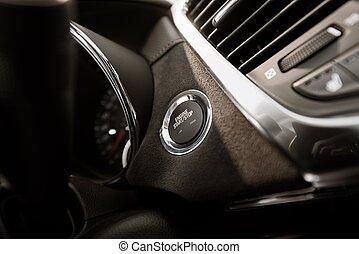 Modern Car Ignition Button