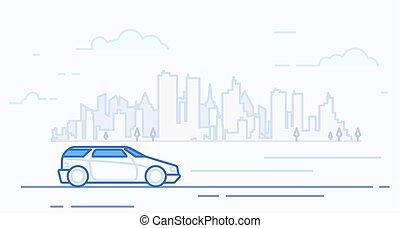 Modern car in the city