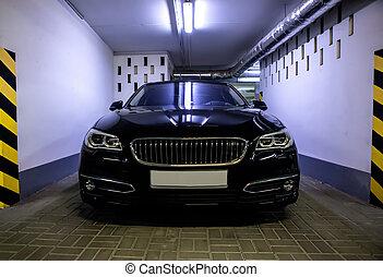 modern car in the underground parking