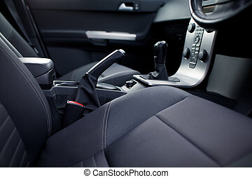 Modern car interior (shallow DOF - selective focus; color ...