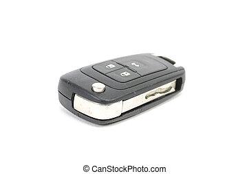 Modern car keys isolated on white background