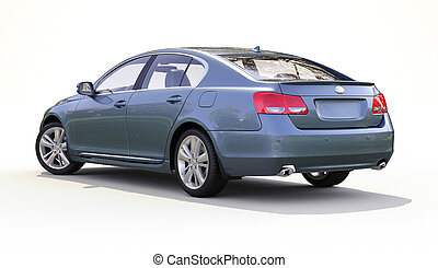Modern car on a light background