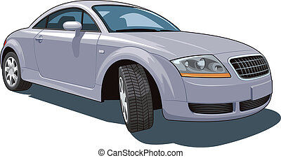 Modern car - Vector isolated modern car on white background...
