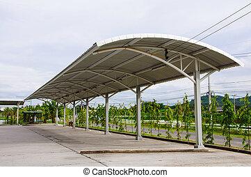 Modern carport car garage parking