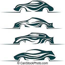 Modern cars design elements.