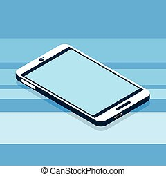 Modern Cell Smart Phone 3d Isometric Flat Design