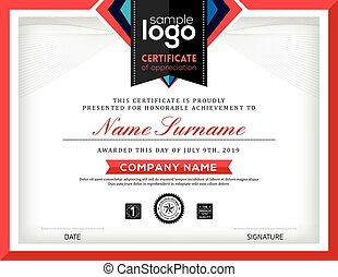 Modern certificate abstract graphic background frame template
