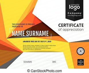 Modern certificate background design template