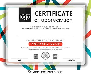 Modern certificate frame design template