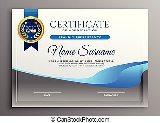 modern certificate of appreciate template