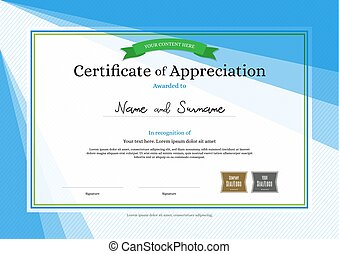 Premium modern certificate of appreciation template design eps modern certificate of appreciation template on abstract background yelopaper Image collections