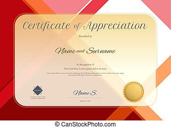 Modern certificate of appreciation template with geometric modern certificate of appreciation template with modern colorful pattern in vector illustration yadclub Image collections