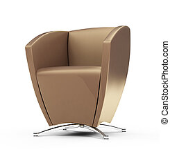 Modern chair against white - isolated modern chair against...