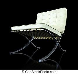 modern chair black background
