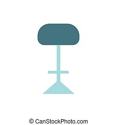 modern chair furniture isolated icon