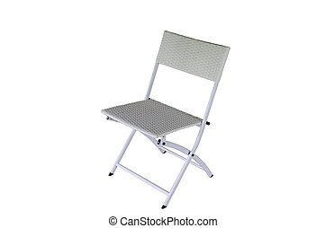 modern chair on white background with clipping path