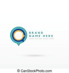 modern chat style logo concept design vector