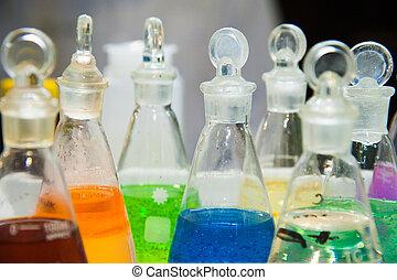 Modern chemical laboratory