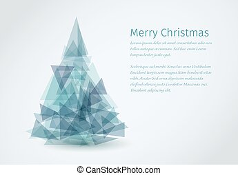 Modern christmas card with christmas tree