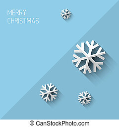 Modern christmas card with flat design