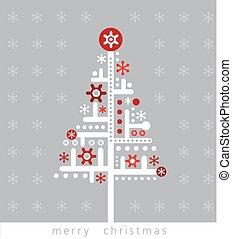 Modern Christmas greeting card.