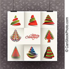 Modern Christmas Tree Background