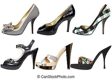 modern, cipők, női