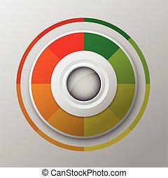modern circle button design