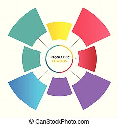 Modern Circle Infographic Elements Template Vector Image